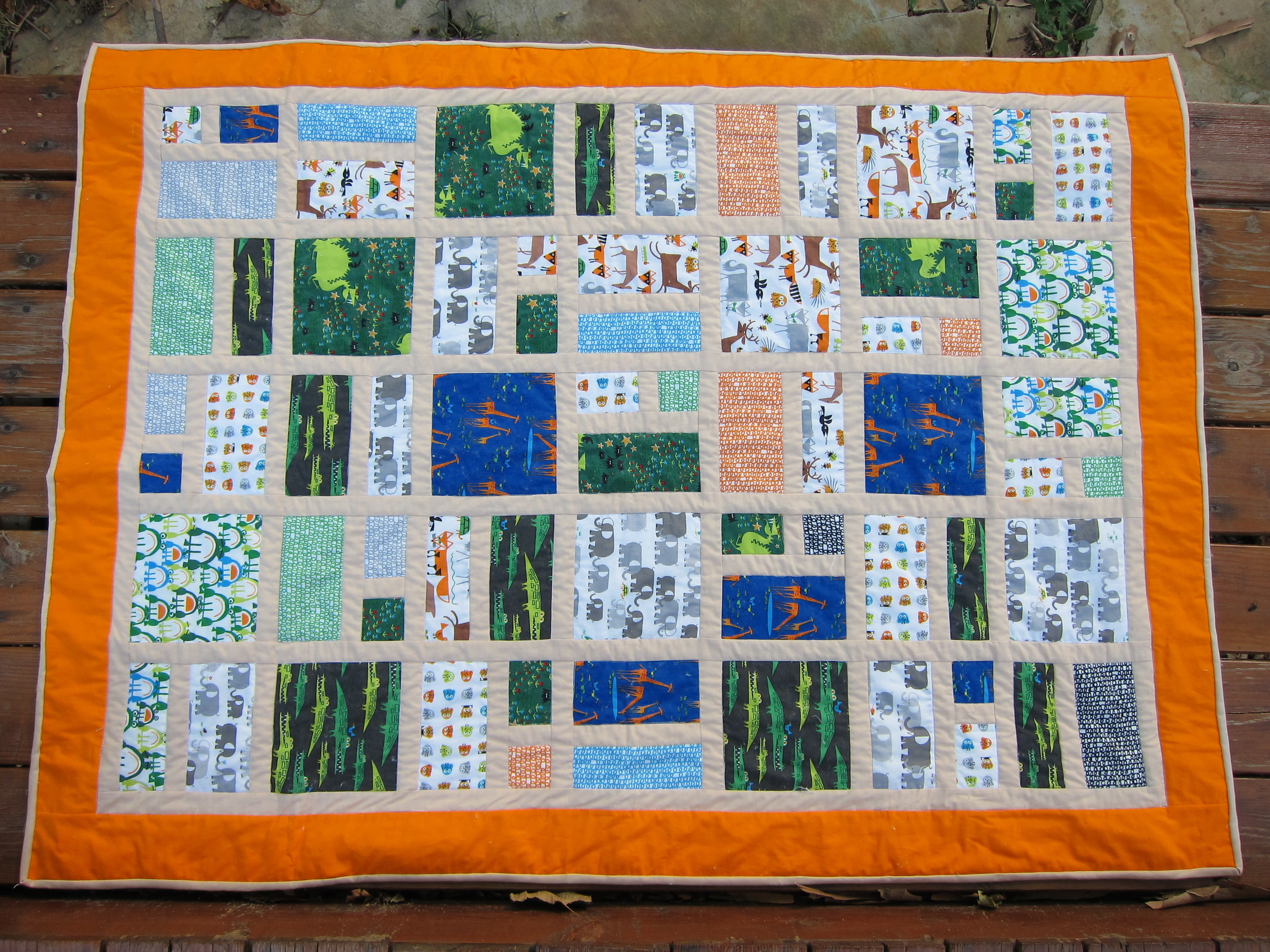 Overview of boy's quilt