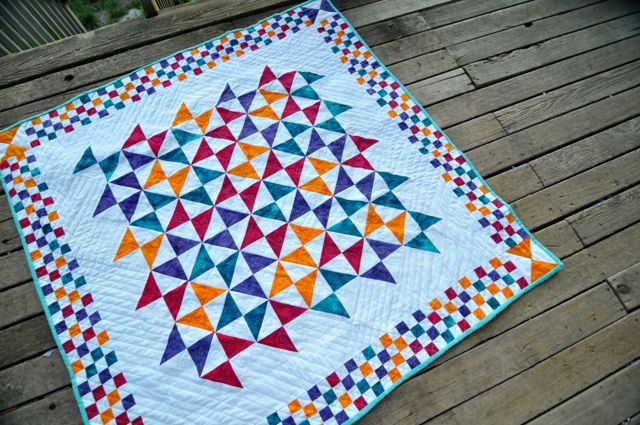 When it's done, the quilt looks like this.