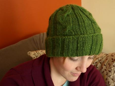 Mens Cabled Hat Pattern 9 Stitches
