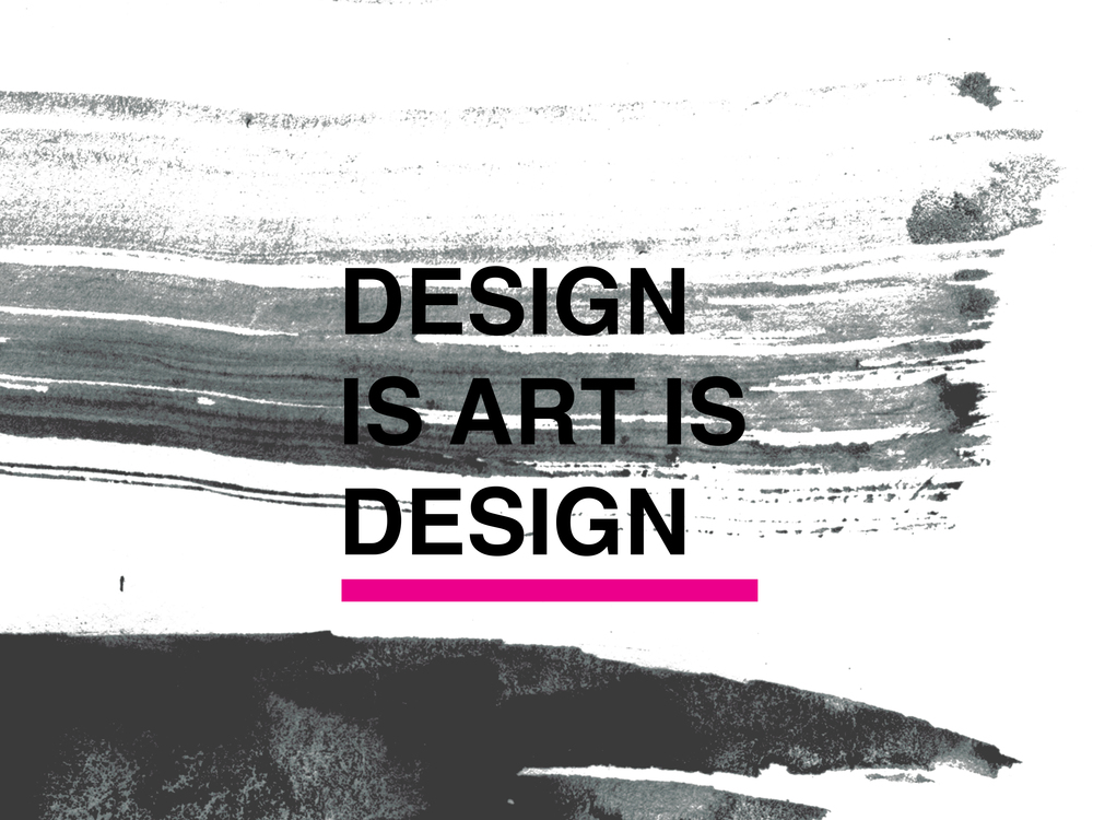 Design is Art is Design Conference Material