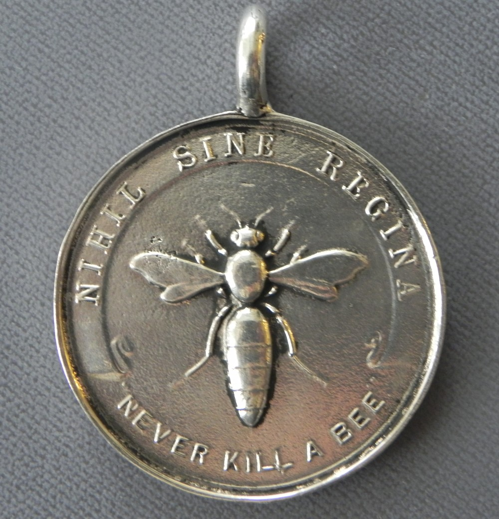 """Never Kill a Bee"" Award Medal reproduced from my personal collection. Sterling Silver $365"