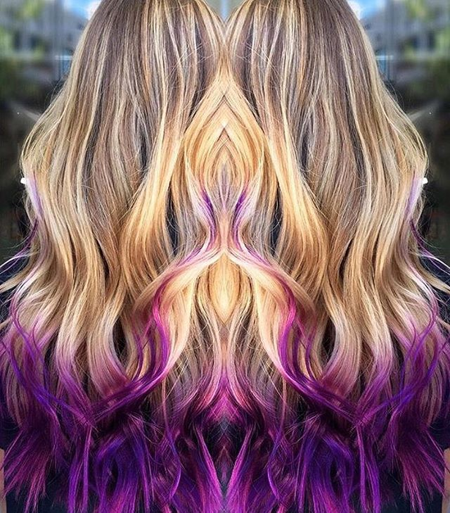 Hair by Courtney @hairby_courtneyv // 🍇🔮💜 purple ombré on @that.cheer.chick today! #balayage #balayagehighlights #balayagehair #balayagehaircolor #salon5150 #hair #haircolor #avedahaircolor #hairbrained #hairgasm #hairpainting #newhair #hairpost #hairporn #babylights #modernsalon #hairlove #hairofig #hairpics #colormelt @salon5150 #hairlove #ochairstylist #hairgoals #hairinspo #follow4follow #hotonbeauty #balayagedandpainted #breahairstylist #dyeddollies #behindthechair ™@hairby_courtneyv