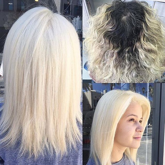 Hair by Kaylee @kaylee_loveshair // Completely obsessed with this platinum! @alyssaiskindacool @salon5150 #salon5150 #blondie #blondesdoitbetter #platinum #loveit 😍👸🏼💁🏼💕 ™@kaylee_loveshair