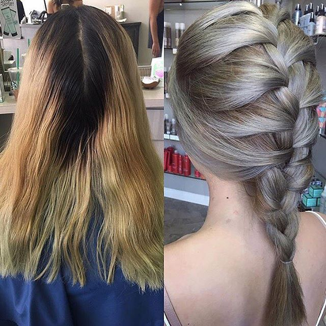 Hair by Angela O @angela_doeshair // Before & after! This process is not easy and takes a lot of patience and tlc to your hair (mostly for darker haired girls) 🦄💕 ™@angela_doeshair #hairbyangelaroseo #balayage #balayagehighlights #sombre #hairart #colorcorrection #hairtrends #hairpainting #modernsalon #ombre #hairtrends #hairpainting #ochair #colormelt #breasalon #salon5150  #longhairdontcare #balayageombre
