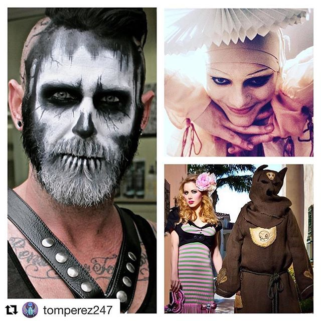 "#Repost @tomperez247 with @repostapp ・・・ Spooky makeup I've done the past few years. Getting in the mood for the upcoming season. Left: Trenton, for Halloween two years ago at @salon5150 - Top Right: A still from @lawrencerothman music video ""H"" directed by @floriasismondi Bottom Right: @jlbeaverton photo shoot on @rms_error with @garybaseman photographed by @caseycurry All makeup by @tomperez247 #love #dtla #makeup #makeupartist #me #art #socal #la #halloween  #girl #boy #musicvideo #model #beautiful #jessicalouise #casseycurry #rcma #creative #fashionphotography"