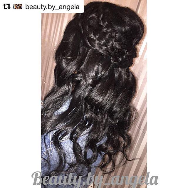 Hair by Angela @beauty.by_angela // #Repost @beauty.by_angela with @repostapp ・・・ ✨ Braids & Curls✨ #beautybyangg #salon5150 #bridal #bridalhair #braids #curls #ochair @salon5150