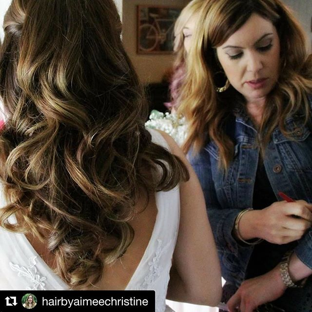 Hair by Aimee @hairbyaimeechristine // #Repost @hairbyaimeechristine with @repostapp ・・・ The Perfect Wedding Curls brings out Her Beautiful Dimensional Highlights!! #hairbyaimeechristine #bigsexycurls #weddinghair #kenrahairspray #redkenshineflash #bridalhair #dimesionalhighlights #salondrew #salon5150
