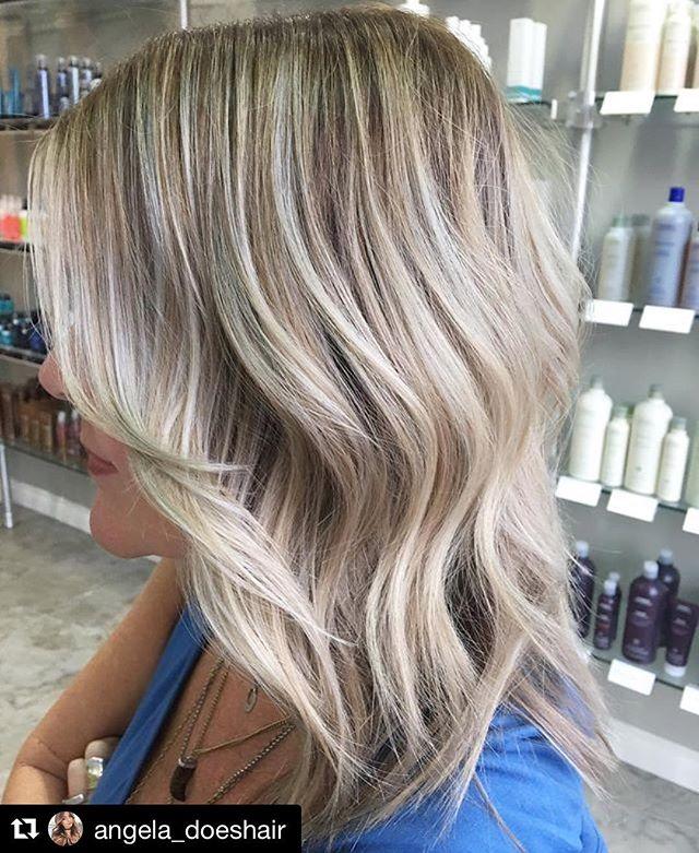 Hair by Angela @angela_doeshair // #Repost @angela_doeshair with @repostapp ・・・ Ashy blonde baby lights 👸🏼✨