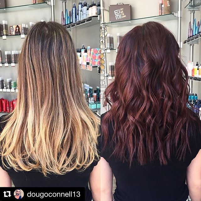 Hair by Doug @dougoconnell13 // #Repost @dougoconnell13 with @repostapp ・・・ Before & after 🎨💇🏽✂️ #hair #haircut #hairking #hairlove #hairporn #hairpost #haircolor #hairstyle #hairtip #hairbydoug #hairbrained #hairstylist #balayage #balayagecolor #ombre #ombrehair #salon5150 #brea #trim #healthy #long #beautiful #modernsalon #btcpics #behindthechair #dougoconnell #angelofcolour #hairdressermagic