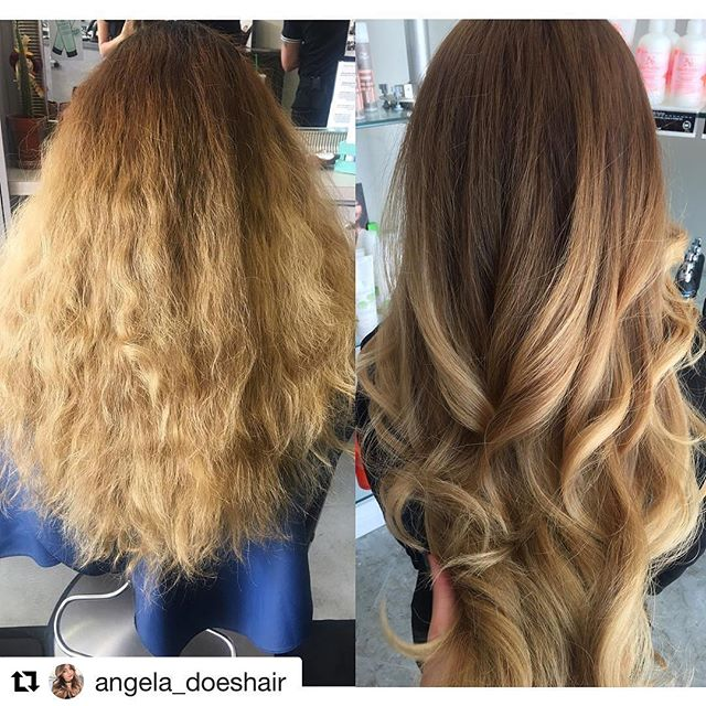 Hair by Angela @angela_doeshair // #Repost @angela_doeshair with @repostapp ・・・ Before & after ✨💁🏼❤️