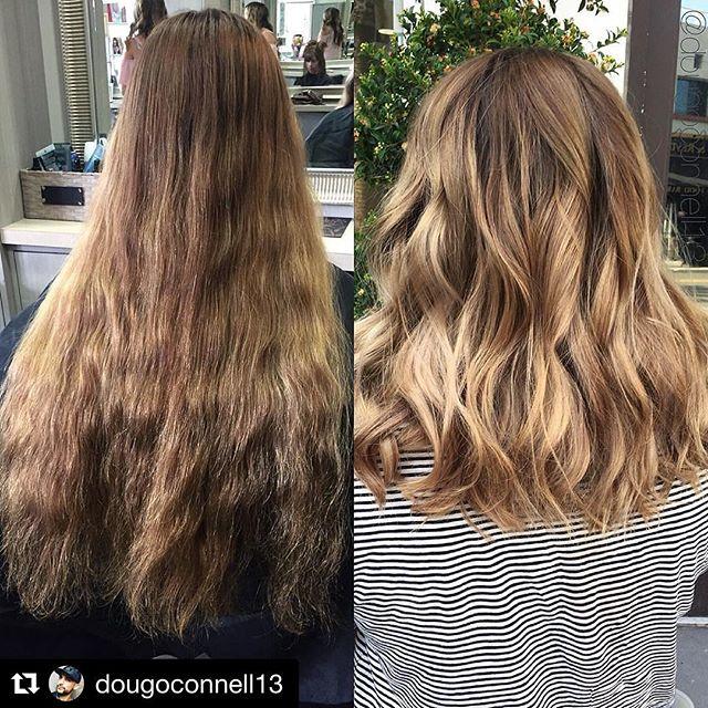 Hair by Doug @dougoconnell13 // #Repost @dougoconnell13 with @repostapp ・・・ Before & after 🎨 #hair #haircut #hairking #hairlove #hairporn #hairpost #haircolor #hairstyle #hairtip #hairbydoug #hairbrained #hairstylist #balayage #balayagecolor #ombre #ombrehair #salon5150 #brea #trim #healthy #long #beautiful #modernsalon #btcpics #behindthechair #dougoconnell #angelofcolour #hairdressermagic