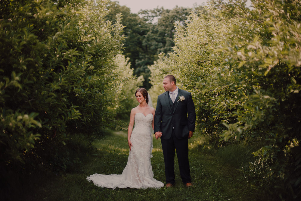 Apple Orchard Wedding - Church: Saint Gabriel ChurchVenue: County Line OrchardHair: Deanna Lewis MakeupMakeup: Tranquility SalonFlowers: Chalet FloristDress: Stella York from Martellen's Dress and Bridal Boutique