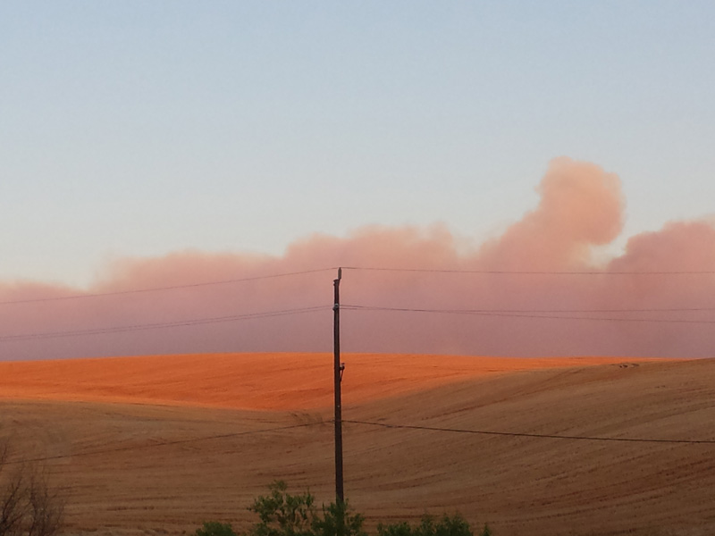 Blue Creek Fire, Lewis Peak Road