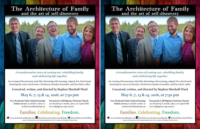 The Architecture of Family & the Art of Self-Discovery Flier (half sheet)