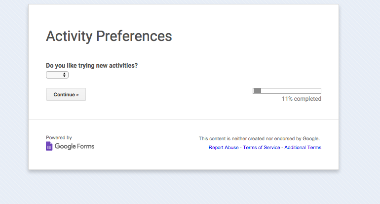 Activity Preferences survey screenshot.png