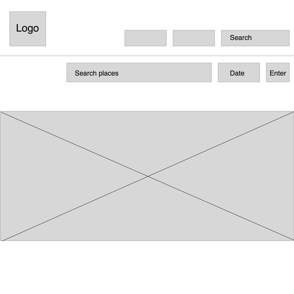 A very early iteration of a Meetup wireframe.