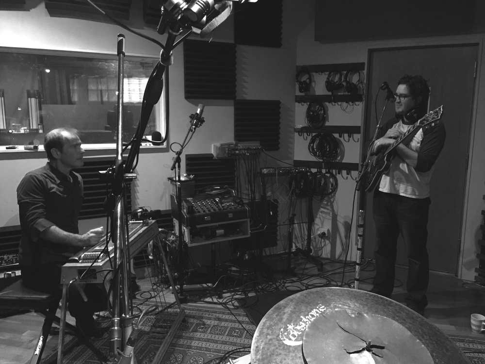 Recording with jazz guitarist Robbie Melville for his forthcoming 2016 release at Incubator Studios.  Also pictured is pedal steel player Garret Costigan.