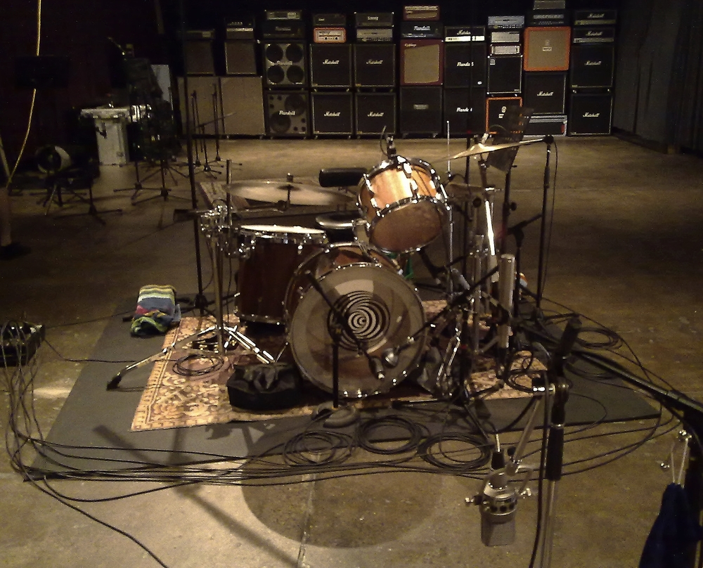 Tracking drums only at Wick Studios.