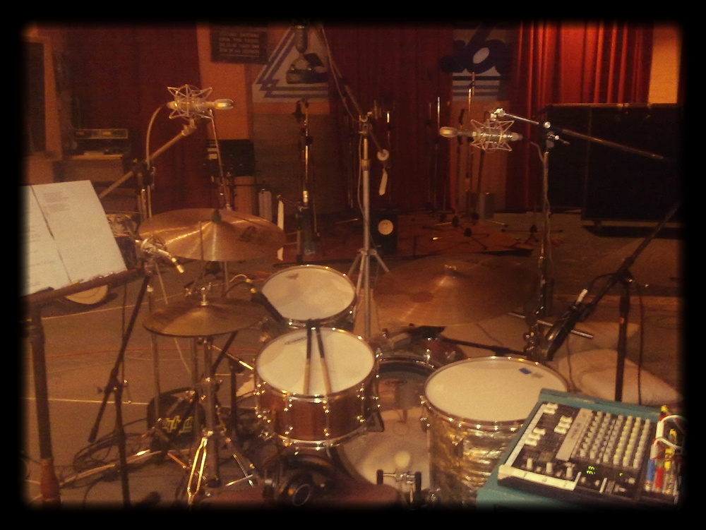 Recording for Zia's album at Rancom Studios, Sydney.