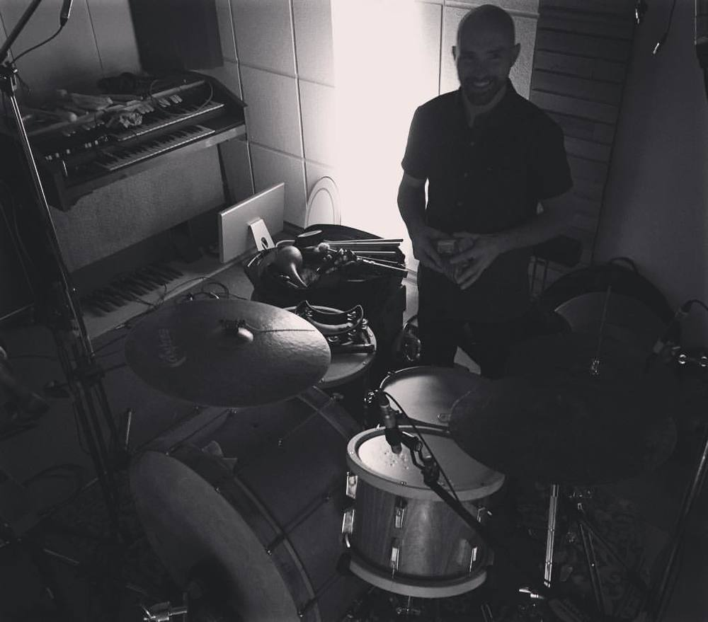Session for (and photo by) Mitch Cairns; overdubbing drums and percussion onto existing tracks.