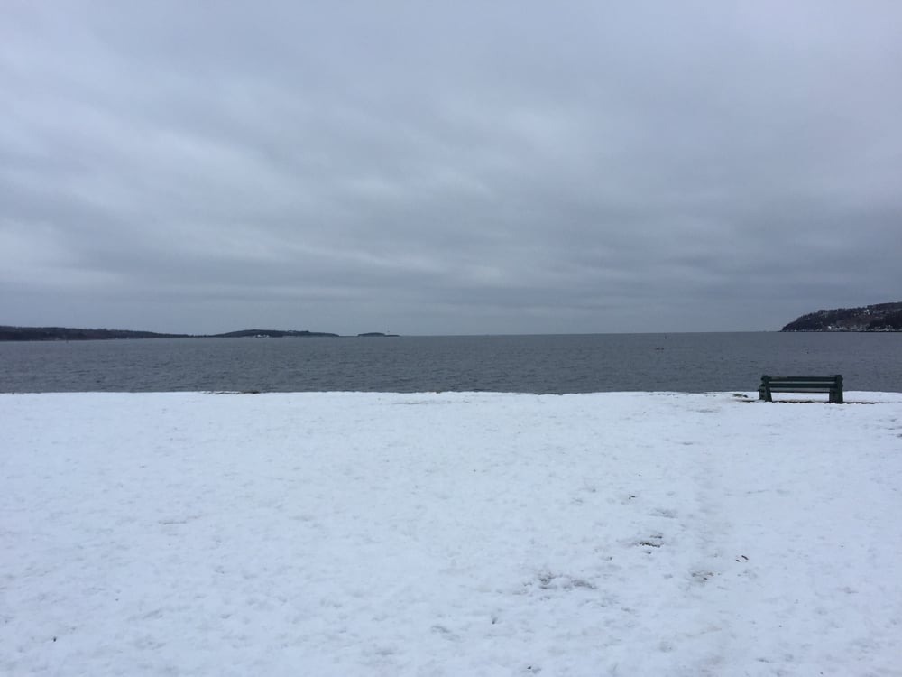 Looking out on the water at Point Pleasant Park, NS.
