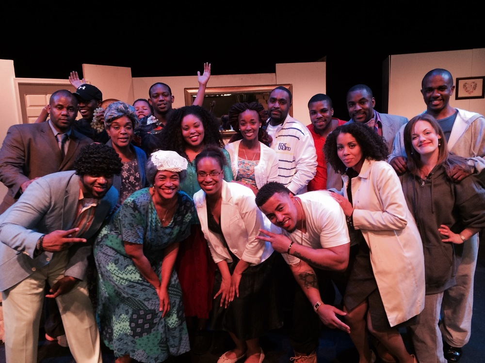 "Kara with cast of the play, ""The Prodigal"""