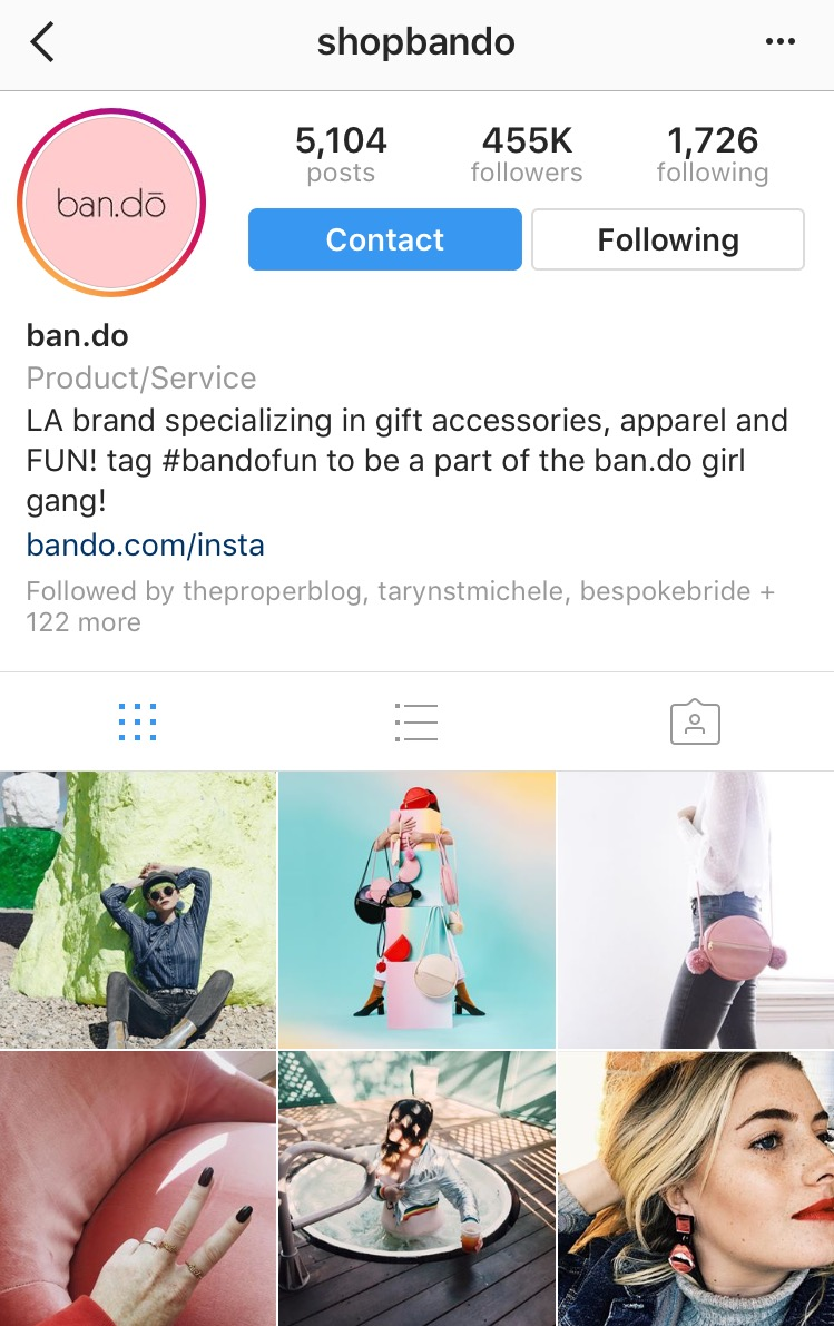 bando account