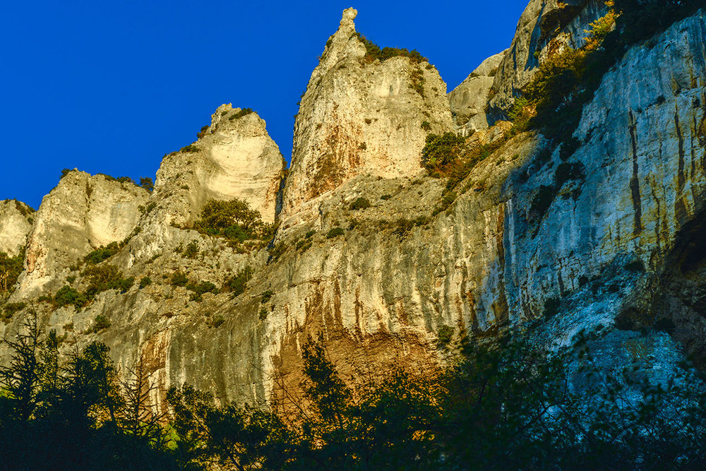 The Garrigue mountains at Fontaine du Vaucluse