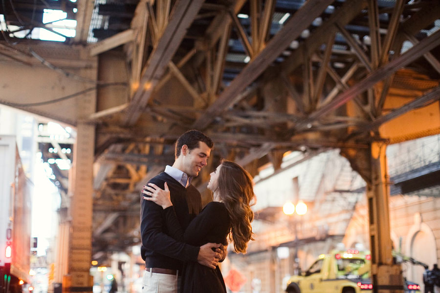 chicago el track engagement photo