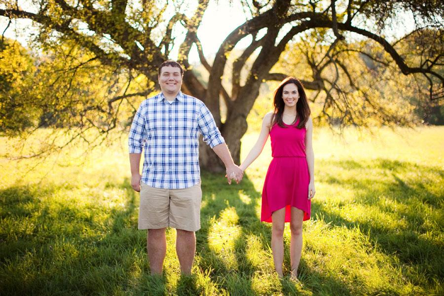 morton arboretum engagement photo
