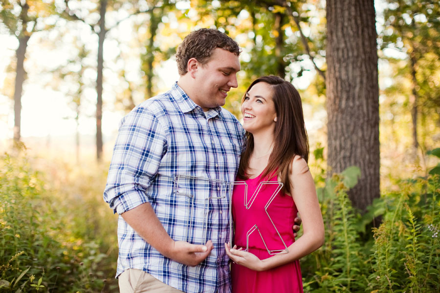 morton arboretum engagement photo