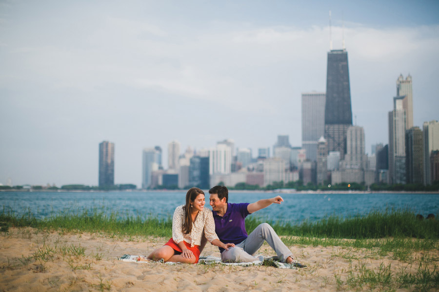 North Avenue Beach Engagement Photography