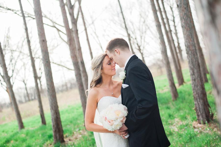 morton arboretum wedding photo