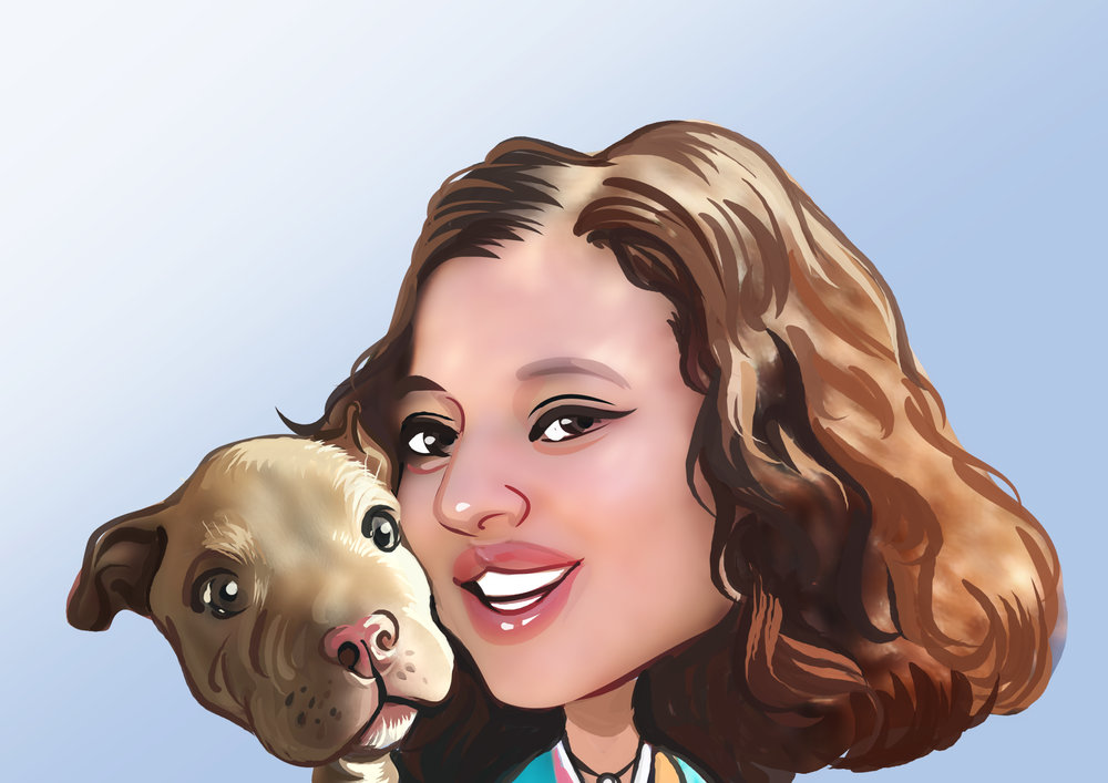 - Thalia A., Canine Specialist, is the proud parent of a Malti-Poo mix.  She is passionate about theater, and enjoys learning from the dramatic antics of dogs.  She has completed the Dog Gurus' safety program, and has a keen eye for sanitation and keeping PlayBow clean.