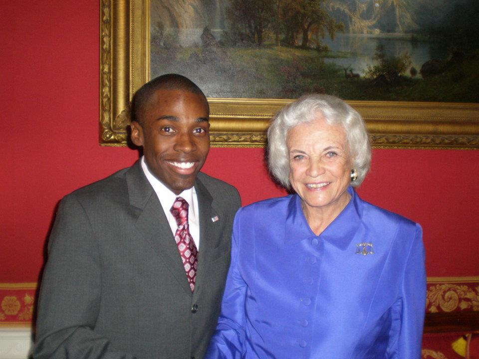 White House Party w/ fellow Arizonan Justice Sandra Day O'Connor