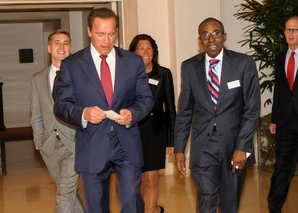 With Governor Arnold Schwarzenegger at Beverly Hills Event
