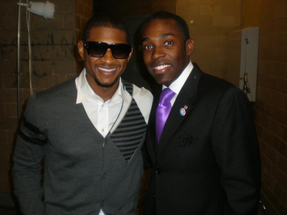 Backstage w/ Usher in NYC