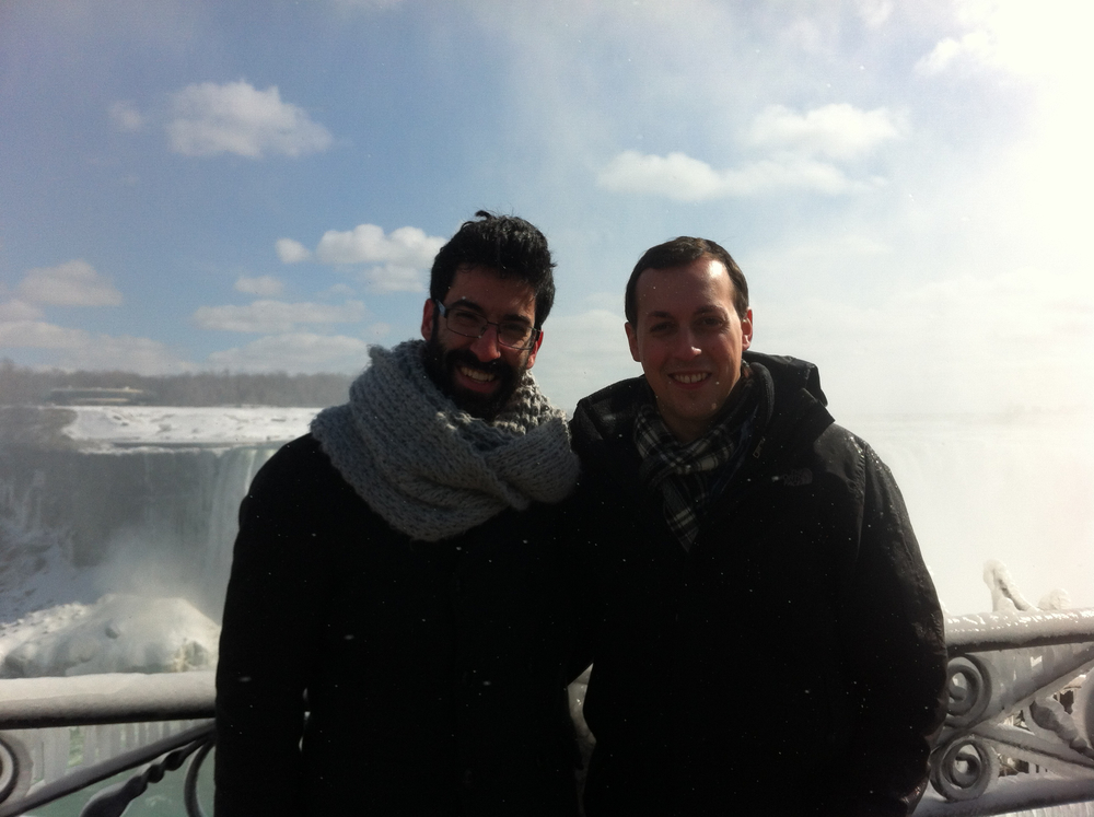 Amir Porat (on loan from E. Raphael's team) & Rafael Schulman studying hydrodynamics