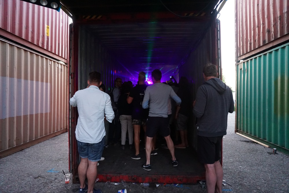 This shipping container was a RIOT.