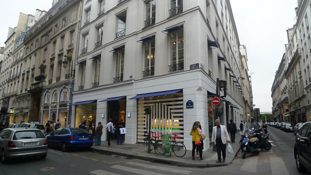The trendy Parisian concept store Colette, on the corner of Rue Saint Honoré and Rue 29 de Juillet.