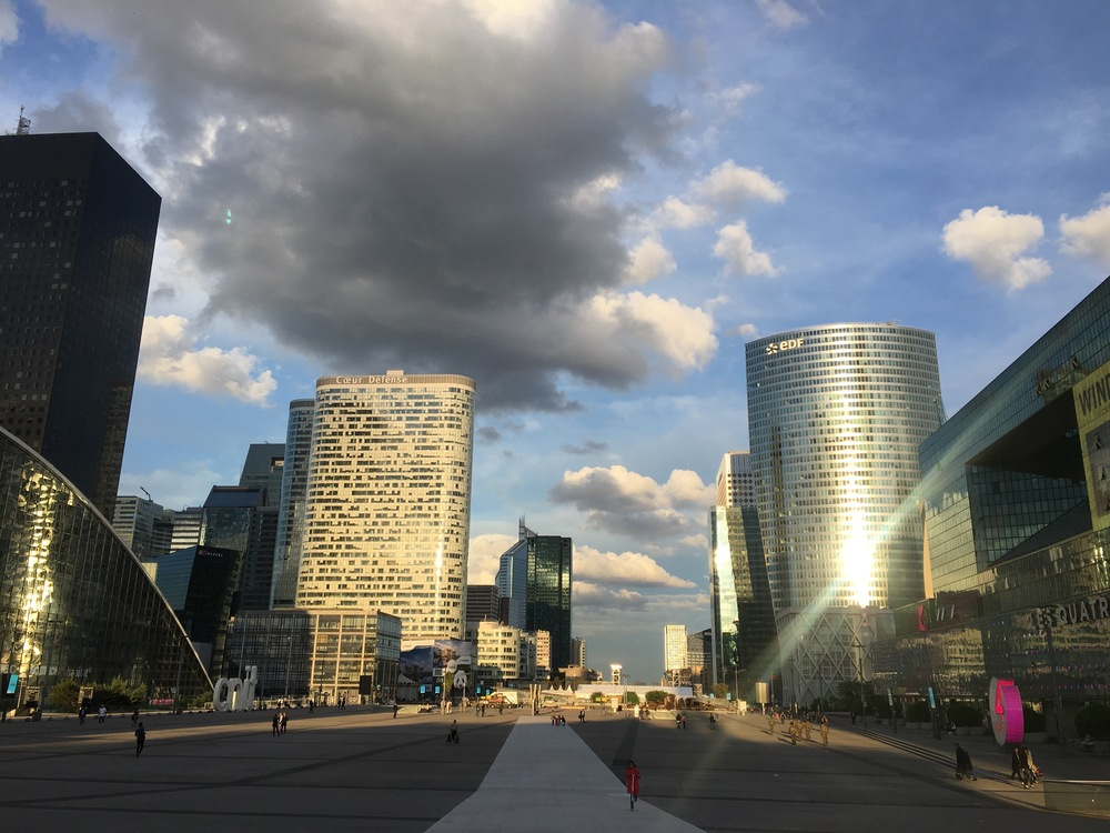 Highrises, skyscrapers, and big businesses abound in Paris's commercial neighborhood: La Défense.