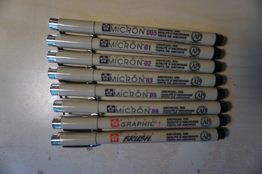 Prisma Micron Ink Set, $20.