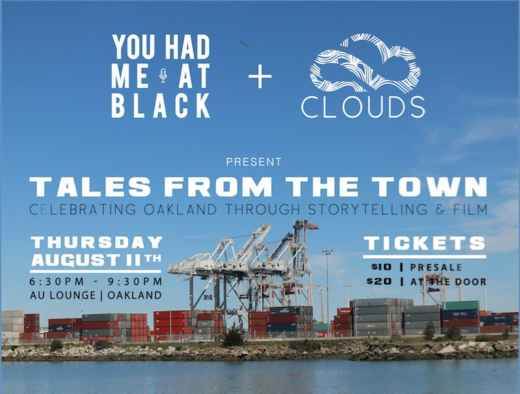 "Check out YHMAB's next event in Oakland : ""Tales from the Town""."