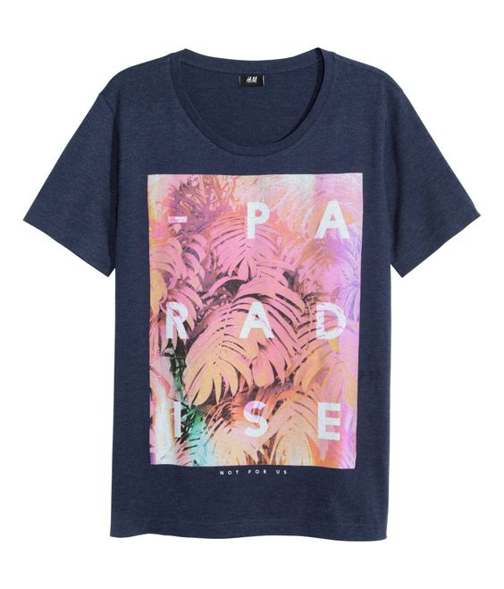 "You better hold onto this H&M tee with the trees graphic that says ""Paradise"", because the real rainforest is rapidly disappearing. Image: H&M."