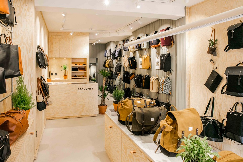 Sandqvist's flagship store in London. Photo: Highsnobiety.
