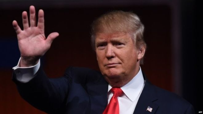 Donald Trump appears in a recruiting video for terrorist group earlier this year.
