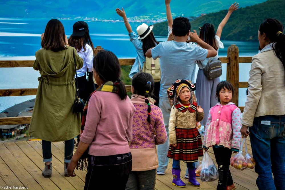 Girls at Lugu Lake
