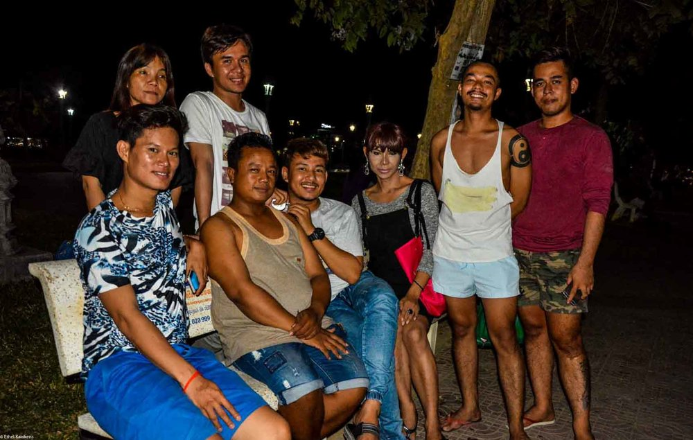 A woman with her friends (LGBT Community in Battambang, Cambodia)