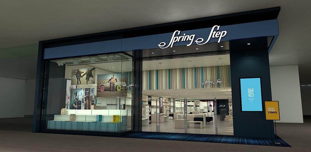 Diseño y proyección formato punto de venta Spring Step