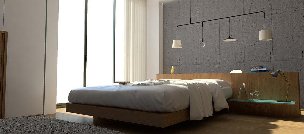 Diseño y proyección habitación hotel tipo